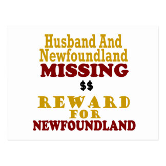 Recompensa que falta de Terranova y del marido por Postal