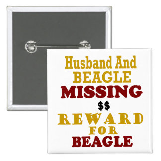 Recompensa que falta del beagle y del marido por b pins