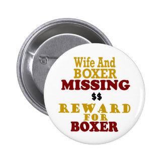 Recompensa que falta del boxeador y de la esposa p pin