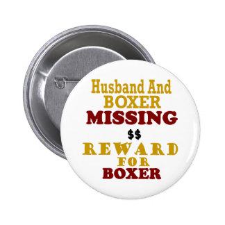 Recompensa que falta del boxeador y del marido por pin