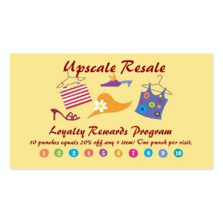 Recompensas del cliente tarjetas de visita