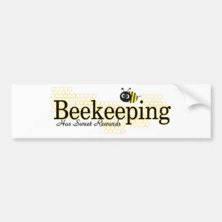 recompensas del dulce de la apicultura etiqueta de parachoque