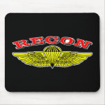 Recon Jumpwings Black Mouse Pad