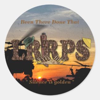 Recon LRRP LRRPS LURPS Vietnam Nam War Classic Round Sticker