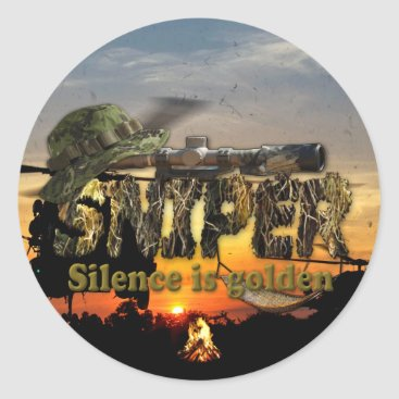 Recon LRRP LRRPS Snipers Vietnam Nam War Classic Round Sticker