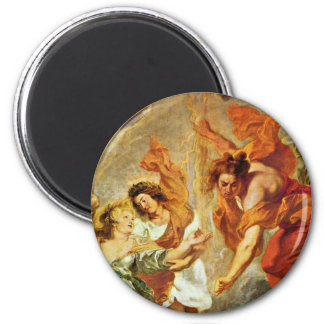 Reconciliation Of Louis And Mary Detail By Rubens 2 Inch Round Magnet
