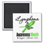 Reconocimiento del mes de la conciencia del linfom imanes para frigoríficos
