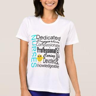 Reconozca a una enfermera:  Collage del Camiseta