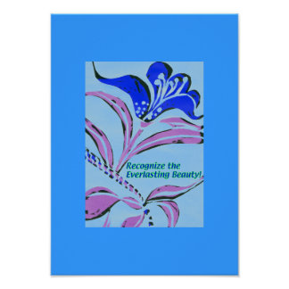 Reconozca la belleza eterna póster