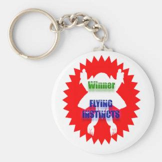 Reconozca la excelencia: Instintos del vuelo del g Llavero Redondo Tipo Pin