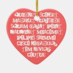 Reconozca los lugares de Nantucket Adorno De Cerámica En Forma De Corazón