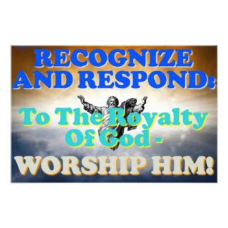¡Reconozca y responda a los derechos de dios! Fotografía
