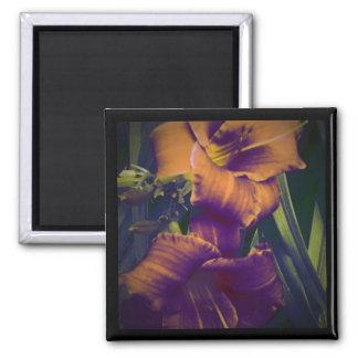 ReConsider the lillies 1 square magnate Refrigerator Magnet