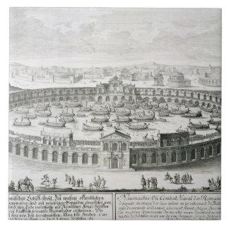 Reconstrucción de una batalla naval romana, de 'En Azulejo Cuadrado Grande