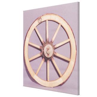 Reconstrucción de una rueda impresión en lienzo estirada