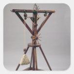 Reconstrucción del diseño de da Vinci Pegatina Cuadrada