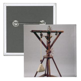 Reconstrucción del diseño de da Vinci Pin Cuadrado