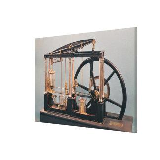 Reconstrucción del motor del vapor de James Watt Impresiones De Lienzo