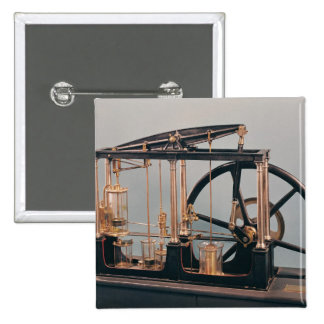 Reconstrucción del motor del vapor de James Watt Pin Cuadrado