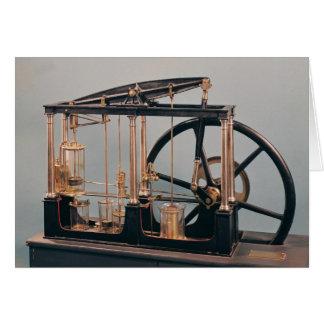 Reconstrucción del motor del vapor de James Watt Tarjeta De Felicitación