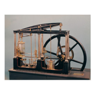 Reconstrucción del motor del vapor de James Watt Tarjeta Postal