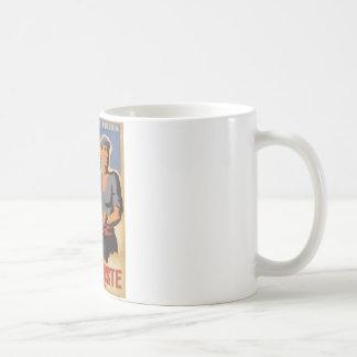 Reconstrucción del poster de la propaganda de taza de café