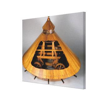 Reconstrucción modelo del diseño de da Vinci Impresión De Lienzo
