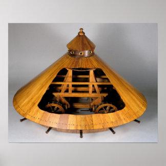 Reconstrucción modelo del diseño de da Vinci Impresiones