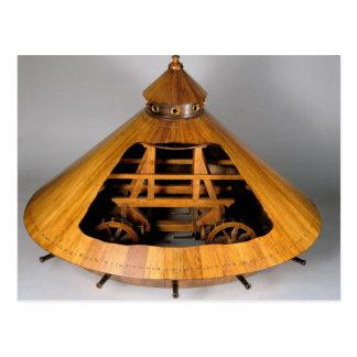 Reconstrucción modelo del diseño de da Vinci Postales