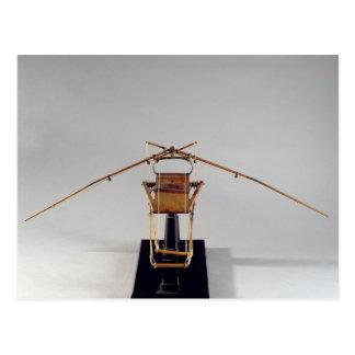 Reconstrucción modelo del diseño de da Vinci Tarjetas Postales