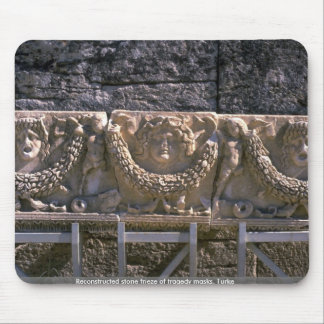 Reconstructed stone frieze of tragedy masks Turke Mouse Pads