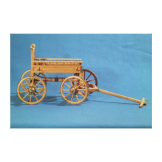 Reconstruction of a chariot found canvas print