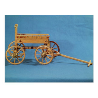 Reconstruction of a chariot found postcard