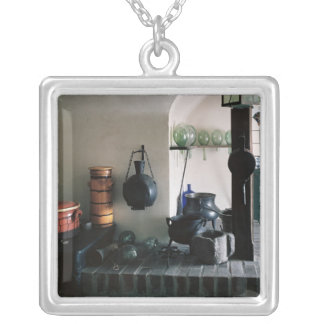Reconstruction of a pharmacy square pendant necklace