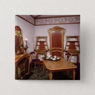 Reconstruction of a salon of the Cafe de Paris Pinback Button