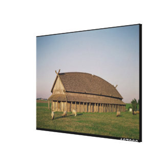 Reconstruction of an 11th century Viking house Canvas Print