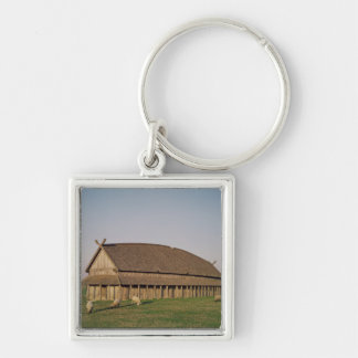 Reconstruction of an 11th century Viking house Keychains