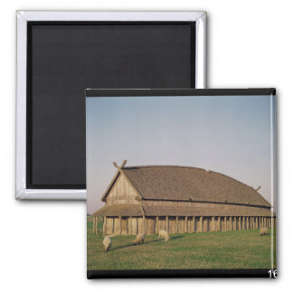 Reconstruction of an 11th century Viking house Magnet