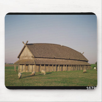 Reconstruction of an 11th century Viking house Mouse Pad