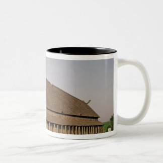 Reconstruction of an 11th century Viking house Two-Tone Coffee Mug