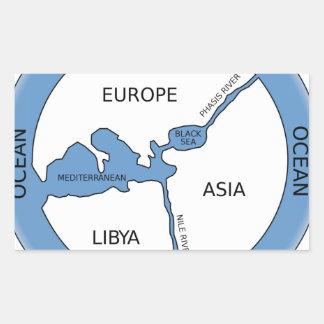 Reconstruction of Anaximander's map Rectangular Sticker