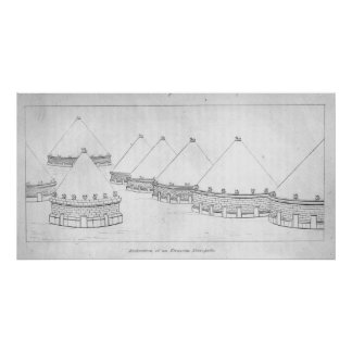 Reconstruction of Etruscan tombs at Tarquinia Print