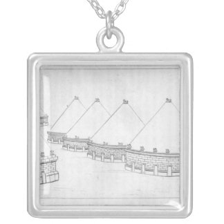 Reconstruction of Etruscan tombs at Tarquinia Silver Plated Necklace