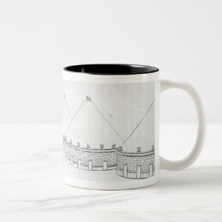 Reconstruction of Etruscan tombs at Tarquinia Two-Tone Coffee Mug