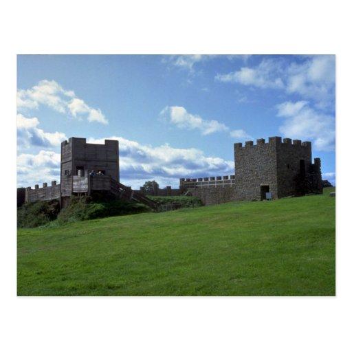 Reconstruction of Hadrians Wall, Vindolanda Museum Postcard