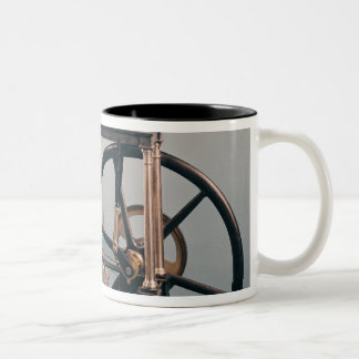 Reconstruction of James Watt's steam engine Two-Tone Coffee Mug
