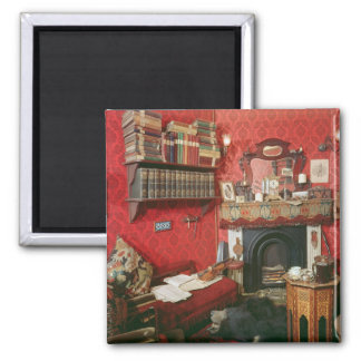 Reconstruction of Sherlock Holmes's Room 2 Inch Square Magnet