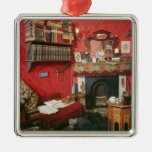 Reconstruction of Sherlock Holmes's Room Square Metal Christmas Ornament