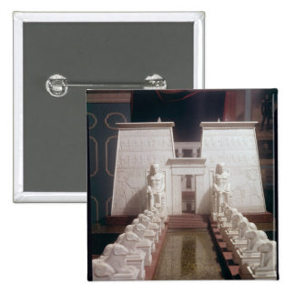 Reconstruction of the Great Temple of Amon, Pinback Button