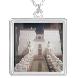 Reconstruction of the Great Temple of Amon, Silver Plated Necklace